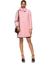 Kate Spade Bow Neck Wool Coat - Pink
