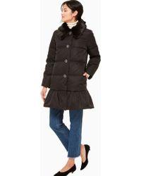 Kate Spade - Jewel Button Puffer Coat - Lyst