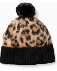 Kate Spade - Leopard Pom Hat - Lyst