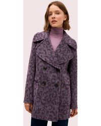 Kate Spade Brushed Leopard Peacoat - Purple
