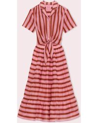 Kate Spade Calais Stripe Shirtdress - Red