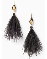 Kate Spade - Dashing Beauty Penguin Tassel Earrings - Lyst