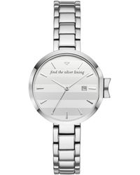 Kate Spade - Park Row Find The Silver Lining Watch - Lyst