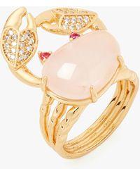 Kate Spade Sea Star Crab Statement Ring - Metallic