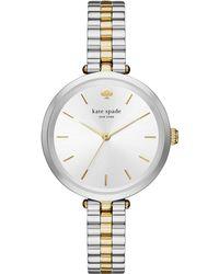 Kate Spade - Women's Holland Two-tone Stainless Steel Bracelet Watch 34mm Ksw1119 - Lyst