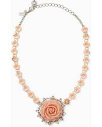 Kate Spade - Artisanal Rose Collar Necklace - Lyst