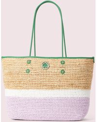 Kate Spade Straw Large Tote - Multicolor