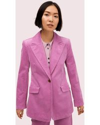 Kate Spade Modern Cord Blazer - Pink