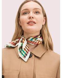 Kate Spade Leslie Plaid Bandana - Multicolour