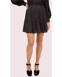 Kate Spade Wavy Dot Skirt - Black