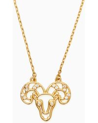 Kate Spade - Celestial Charm Aries Pendant - Lyst