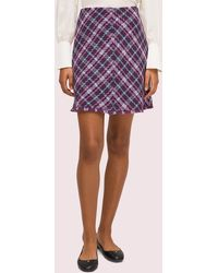 Kate Spade Plaid Tweed Skirt - Purple