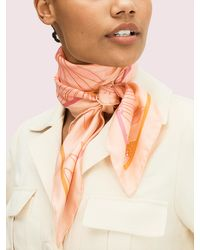 Kate Spade - Falling Flower Square Scarf - Lyst