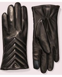 Kate Spade Quilted Leather Tech Gloves - Black