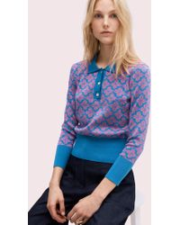 Kate Spade - Spade Flower Polo Sweater - Lyst