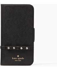 Kate Spade - Elliott Street Folio Iphone X Case - Lyst