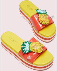 Kate Spade Platform Slide Sandals - Multicolor