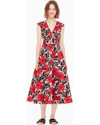 Kate Spade - Poppy Field Structured Dress - Lyst
