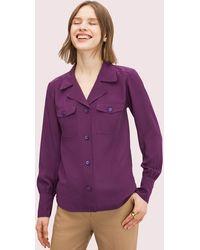 Kate Spade Seidenhemd Mit Tasche - Purple