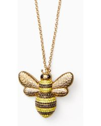 Kate Spade - Picnic Perfect Pave Bee Pendant - Lyst