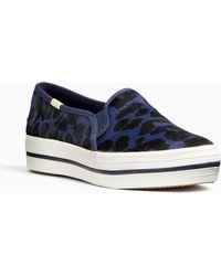 Kate Spade - Keds X Triple Decker Leopard Sneakers - Lyst