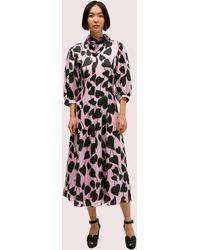Kate Spade Heart Strings Silk Midi Dress - Multicolour