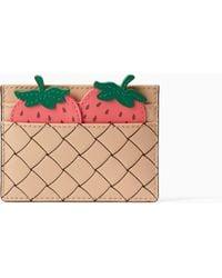 Kate Spade Picnic Perfect Strawberry Card Holder - Multicolour