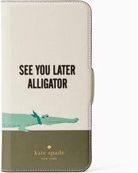 Kate Spade - Jewelled Alligator Iphone 7 Plus Case - Lyst