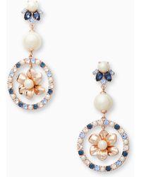 f3be4fa1774cd Kate Spade Secret Garden Stud Earrings in Green - Lyst
