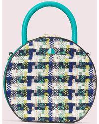 Kate Spade Andi Tweed Mini Chain Canteen Bag - Blue