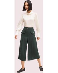 Kate Spade Pleated Culotte Pant - Green