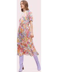 Kate Spade Floral Dots Silk Dress - Pink
