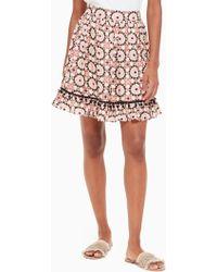 Kate Spade - Floral Mosaic Chiffon Skirt - Lyst