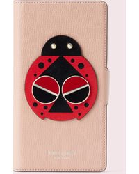 Kate Spade Spademals Lucky Ladybug Iphone Xr Folio Case - Multicolour