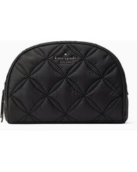 Kate Spade Jae Quilted Medium Dome Cosmetic - Black