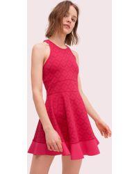 Kate Spade - Spade Jacquard Tennis Dress - Lyst