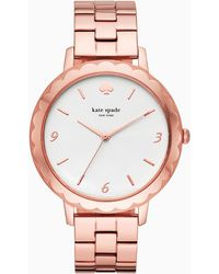 Kate Spade Morningside Scallop Rose Gold-tone Bracelet Watch - Multicolour