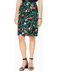 Kate Spade Jardin Tile Jacquard Pencil Skirt - Black