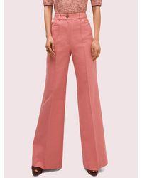Kate Spade Heather Basket Weave Flare Pant - Pink