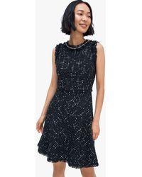 Kate Spade - Embellished Tweed Dress - Lyst
