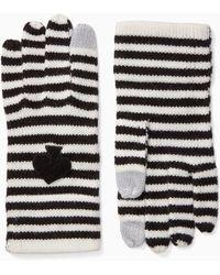 Kate Spade - Striped Spade Wool-blend Gloves - Lyst
