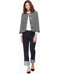 Kate Spade - Stripe Ponte Jacket - Lyst