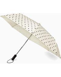 Kate Spade Travel Rain Drop Travel Umbrella - Natural