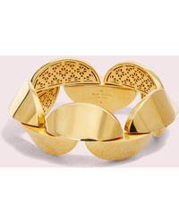 Kate Spade Sliced Scallops Statement Bracelet - Metallic