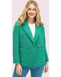 Kate Spade Tweedblazer Mit Pailletten - Green