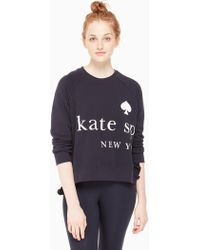 Kate Spade - Logo Ruffle Pullover - Lyst