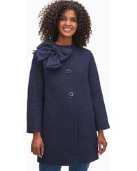 Kate Spade Tweed Dorothy Coat - Blue