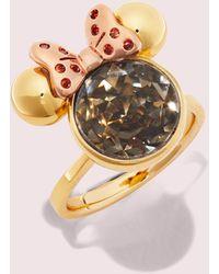 Kate Spade Minnie Mouse Stone Ring - Metallic