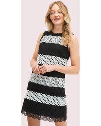 Kate Spade Floral Dot Lace Shift Dress - Black