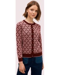 Kate Spade Spade Flower Cardigan - Red